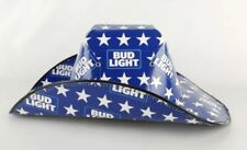 Bud Light Cowboy Cowgirl Hat Beer Box Cardboard Novelty Red White Blue-NEW
