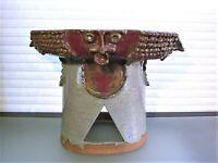 Mid Century Studio Pottery Brutalist Pedestal Bowl