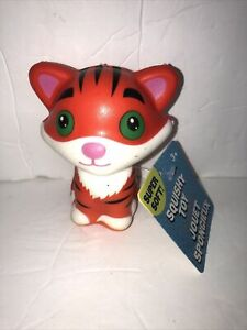 """JUMBOW Cute 4"""" """" TIGAR """" Slow Rising Squishes Scented TOY Tagged"""