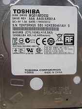 "320 GB Toshiba MQ01ABD032 / AAA AA00/AX001U S/N:Y2HFSR9QS 2,5"" Hard Disk Drive"