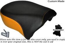 BLACK & ORANGE CUSTOM FITS HARLEY SPORTSTER IRON 883 1200 REAR SEAT COVER