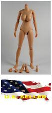 ❶❶1/6 Female Nude Figure Body N003 Large Breast Caucasian Skin Tone USA❶❶