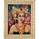 Painting, portrait of a Balinese beauty Dr. R. M Moerdowo 1960