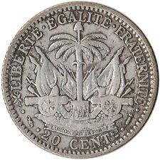 1882 Haiti 20 Centimes Silver Coin KM#45