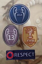 Set Of 2018-2019 UEFA Champions League Respect Trophy 13 Patch Badge Real Madrid