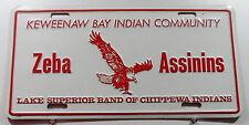 """USA Nummernschild """"KEWEENAW BAY INDIAN COMMUNITY"""" mit Adler Boosterschild.12657."""