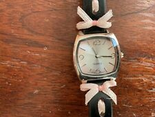Cute Dress watch ~ Black band with Pink ribbons
