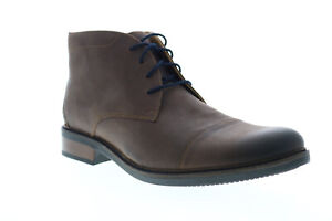 Bostonian Maxton Mid 26136912 Mens Brown Leather Lace Up Chukkas Boots