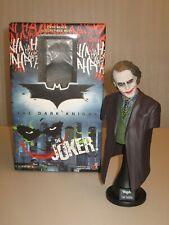 Dark Knight Hot Toys Joker 1/4 Scale Bust + Box NM+ Heath Ledger 12 pix INSURED