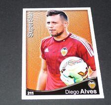 DIEGO ALVES SUPERSTAR VALENCIA FOOTBALL CARD LIGA 2014-2015 MUNDICROMO PANINI