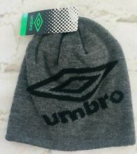 Umbro SIGNAL Youth Knit Skully Gray Hat ONE SIZE FITS MOST NEW WITH TAGS