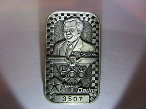 1991 INDIANAPOLIS 500 SILVER BADGE RICK MEARS 4TH WIN TONY HULMAN DODGE INDY CAR