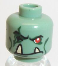 Lego Troll King Head x 1 Sand Green for Minifigure