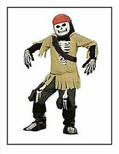 Men's L Boney Pirate Costume Deluxe Disney Store Jack Sparrow Caribbean Skeleton