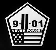 US MADE Never forget World Trade Center Sticker Decal 9/11 NYC Vinyl