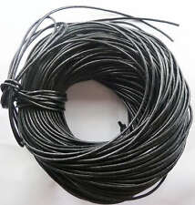 free ship 1Roll (100m) 100%Real leather cords 3mm