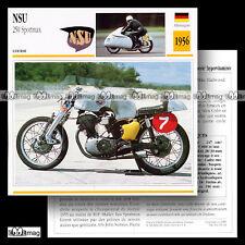#049.14 NSU 250 SPORTMAX 1956 Fiche Moto Racing Motorcycle Card