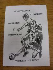 13/03/2014 DOMENICA Sutton LEAGUE Aston Villa Coppa Finale: LEONE BIANCO V Sutton Boot