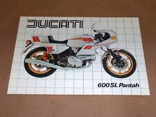 NOS Ducati 600 SL Pantah Brochure 600sl sl600