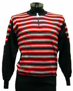 Vintage Italian Wool Sweater Red - Saturno - Made by Santini