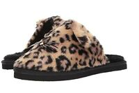NIB! Kate Spade Belindy Slippers Leopard Print Plush SOFT & FLUFFY Women's Sz 7