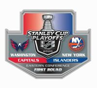2020 STANLEY CUP NHL PLAYOFFS PIN 1ST FIRST ROUND N.Y. ISLANDERS VS. CAPITALS