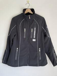 Bogner vintage womens ski jacket black embroidered stormlock softshell Small