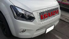 Fit For Isuzu D-Max 2016-2018 White Front Grille Grill Red Logo With Nut