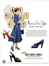 1948 Gold Red Cross Shoes PRINT AD Fashion Womens Shoes Styles Decor