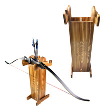 Archery Wooden Stand Holder Arrows Quiver Storage Recurve Bow Longbow Hunting
