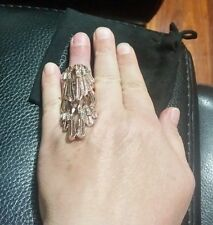 ♡♡♡ BNWT MIMCO RRP$129 OFF THE WALL Ring Statement Rosegold Crystal w/ Pouch