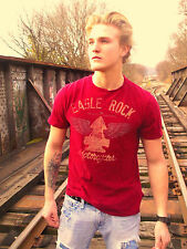 EAGLE ROCK MOTORCYCLES Red 100% Cotton Size M T-Shirt