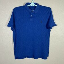 Polo Ralph Lauren Polo Shirt Mens Large Blue Short Sleeve Cotton Rugby Pony