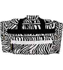 Black and White Zebra with Silver Trim 20 Duffle Bag-NWT