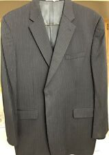 BURBERRY blue mens suit coat jacket sz 48