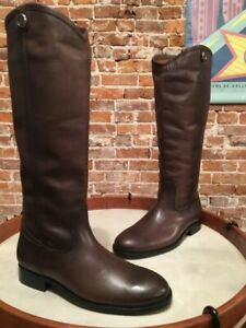 Frye Smoke Grey Leather Melissa Button 2 Extended Calf Riding Boots 8.5 New