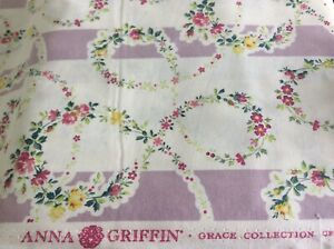 ANNA GRIFFIN-GRACE COLLECTION #CF1607-FLORAL WREATH- BY THE YARD