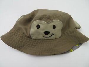Jumping Bean Teddy Bear Bucket Baby 0-6 Months Cap Hat