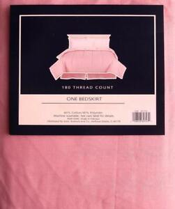 COLORMATE SOLID PINK TWIN SIZE TAILORED BED SKIRT BEDDING NEW