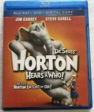 Dr Seuss Horton Hears a Who (Bluray, 2009) Canadian