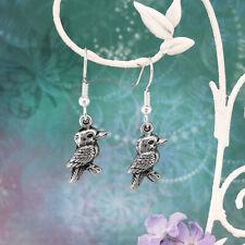 Kookaburra Souvenir Dangle & Drop Earrings Australian Made Pewter Gift
