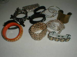 Jewelry Bracelets Gold, Silver, Leather, Buckle,Studs, Metal,Pearl,Stretch Lot