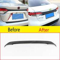 Carbon Fiber Rear Door Trunk Lid Cover Trim ABS For Toyota Corolla 2019-2020