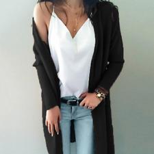 Women's Long Sleeve Knit Open Front Cardigan Top Jacket Jumper Coat Sweater Tops