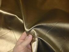 METALLIC GOLD - Faux Leather Upholstery Fabric ( Diamond / Quilted Design)