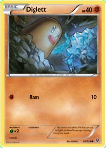 Pokemon TCG XY Fates Collide Diglett 36/124 036/124 - New NM