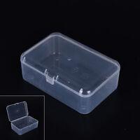 New Small Transparent Plastic Storage Box clear Square Multipurpose display Rh