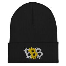 Bitcoin Triple Take Cuffed Beanie - BTC Winter Hat