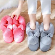Women's Winter Warm Fur Wide Slippers Fit Ankle Boots Cute Sweet Bootie Shoes