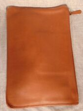 Vtg COACH NYC Leather Clutch Document Portfolio Laptop British Tan Attache Bag